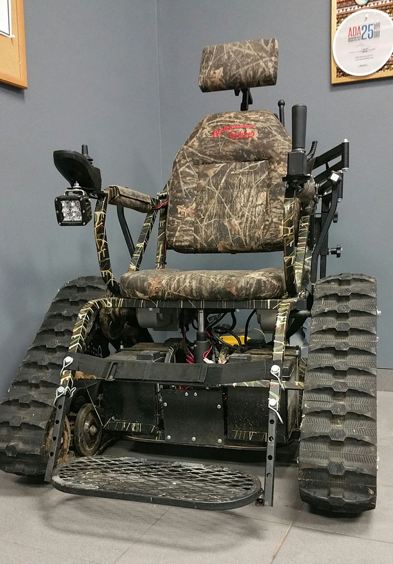 AT Loan Closet Off Road Wheelchair for Nature and Hunting