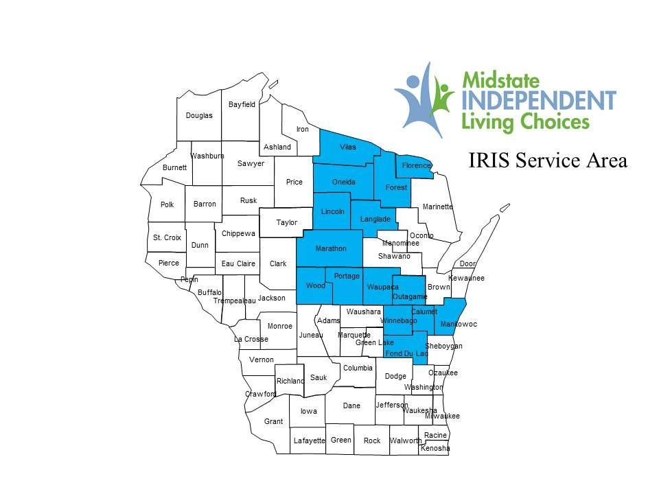 IRIS Wisconsin Service Area